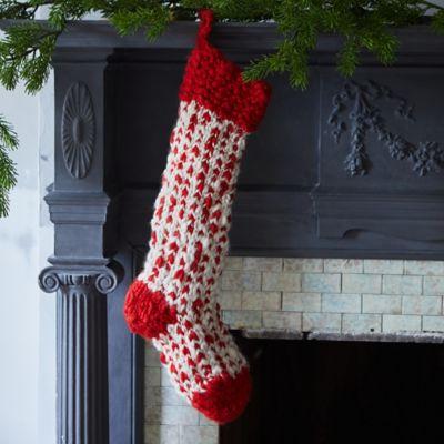 Herringbone Knit Stocking