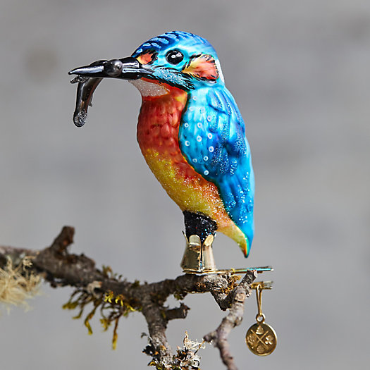 View larger image of Kingfisher Glass Ornament