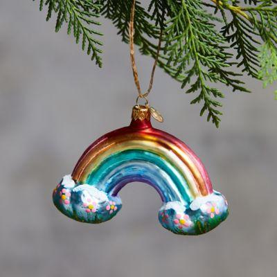 Rainbow Glass Ornament