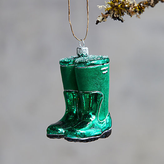 View larger image of Wellies Glass Ornament