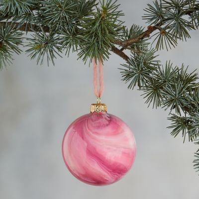 Swirled Glass Globe Ornament