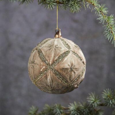 Silver Stars Glass Globe Ornament