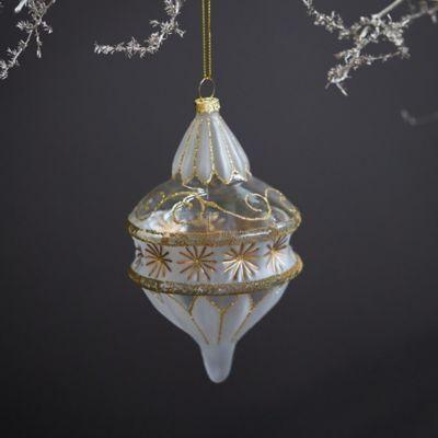 Deco Droplet Glass Ornament