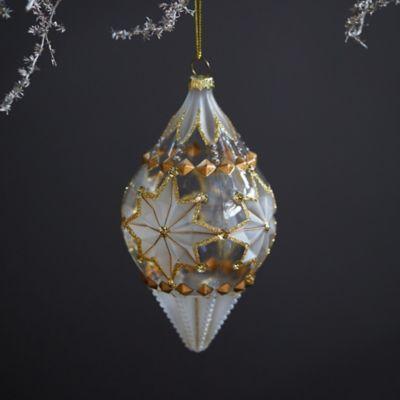 Deco Cone Glass Ornament