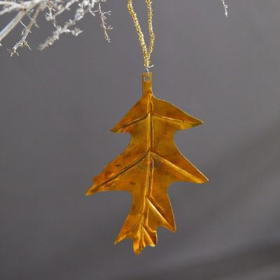 Leaf Brass Ornament