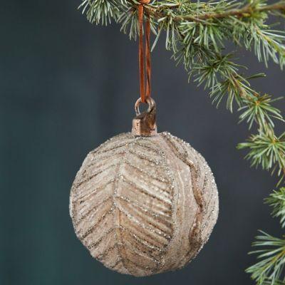 Cabbage Leaf Glass Globe Ornament