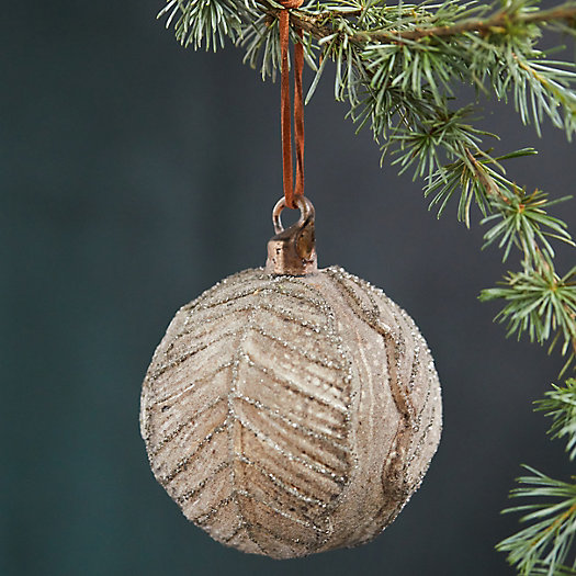 View larger image of Cabbage Leaf Glass Globe Ornament