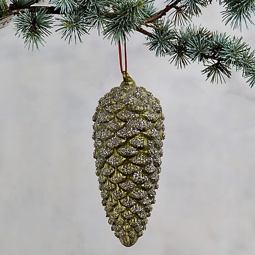 View larger image of Green Glitter Pine Cone Ornament