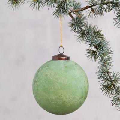 Oxidized Glass Globe Ornament