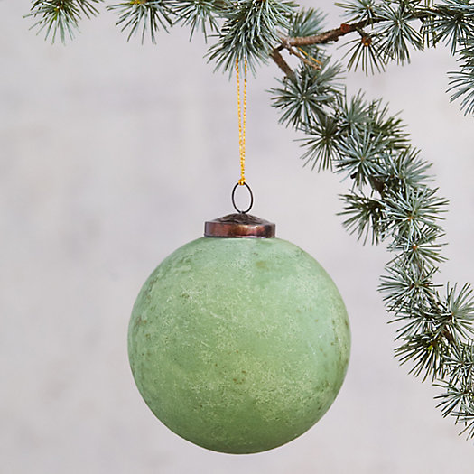 View larger image of Oxidized Glass Globe Ornament