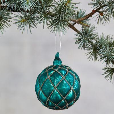 Emerald Glass Globe Ornament