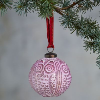 Owl Globe Ornament