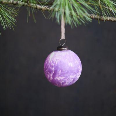 Matte Marbled Glass Globe Ornament
