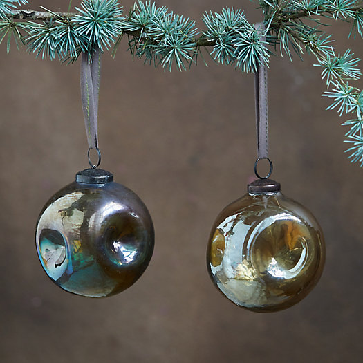View larger image of Dimpled Luster Globe Ornaments, Set of 2