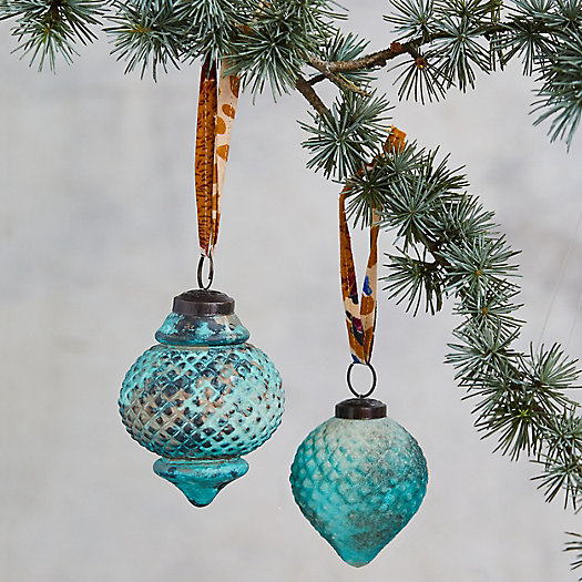 View larger image of Turquoise Finial Ornaments, Set of 2