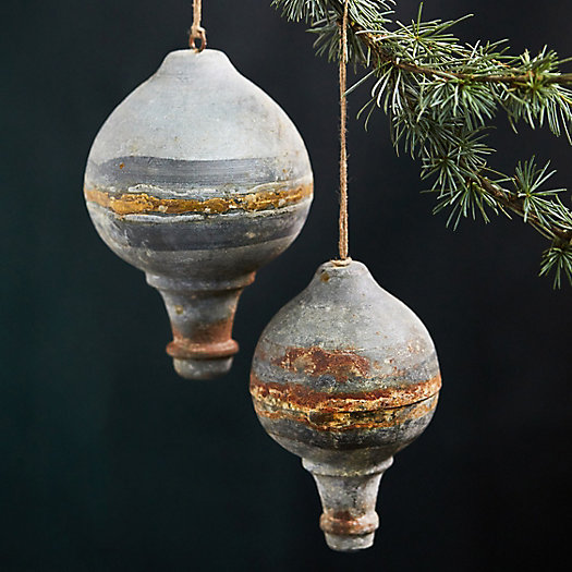 View larger image of Weathered Round Finial Ornaments, Set of 2