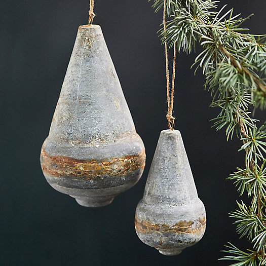 View larger image of Weathered Cone Finial Ornaments, Set of 2