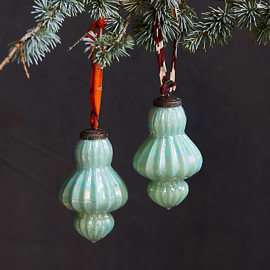 View larger image of Glass Tassel Ornaments, Set of 2