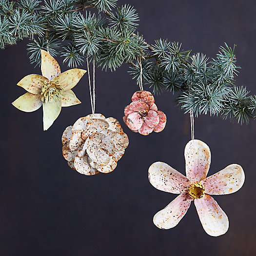 View larger image of Iron Flower Ornaments, Set of 4