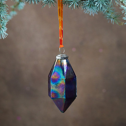View larger image of Geometric Prism Glass Ornament