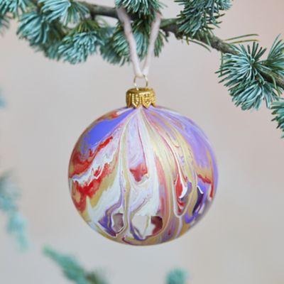 Swirled Color Glass Ornament