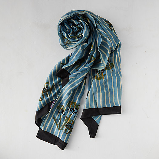 View larger image of Watercolor Stripe Block Print Scarf
