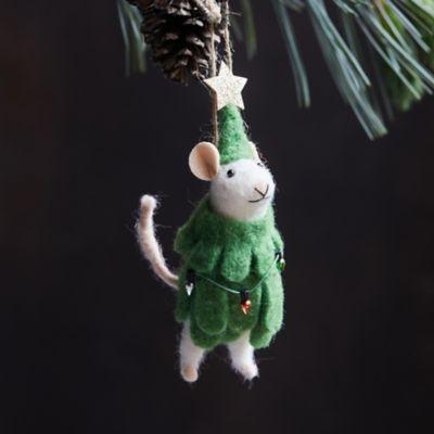 Christmas Tree Mouse Felt Ornament
