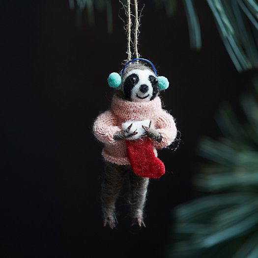 View larger image of Cozy Sloth with Stocking Felt Ornament