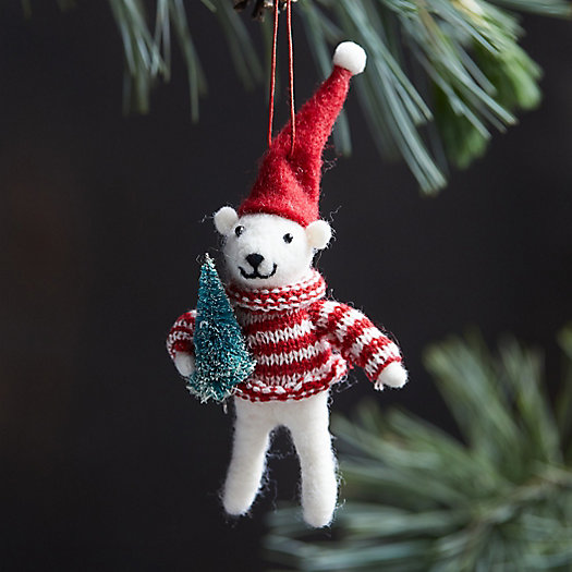 View larger image of Cozy Bear with Tree Ornament