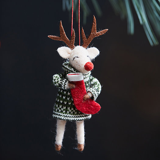 View larger image of Sweater Reindeer with Stocking Felt Ornament