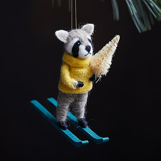 View larger image of Skiing Racoon Felt Ornament