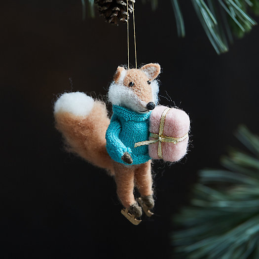 View larger image of Skating Fox Felt Ornament