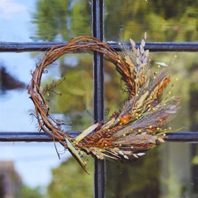 Preserved Asymmetrical Fall Posy Wreath