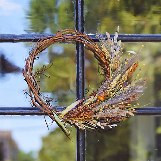 View larger image of Preserved Asymmetrical Fall Posy Wreath