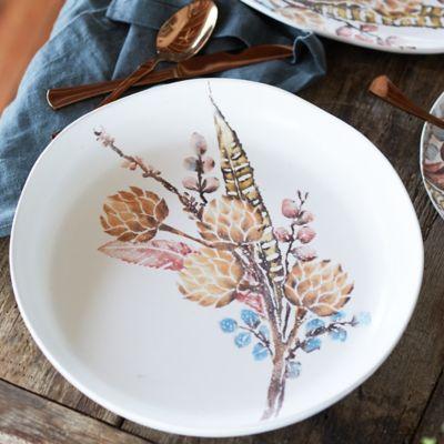 Botanical Sprigs Serving Bowl, Shallow Extra Large