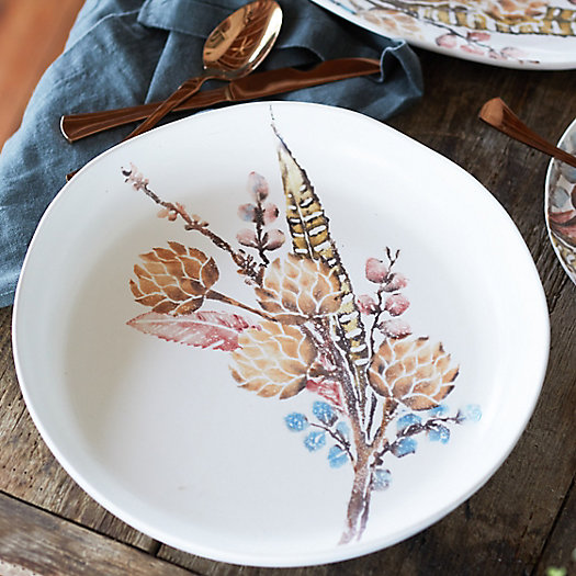 View larger image of Botanical Sprigs Serving Bowl, Shallow Extra Large