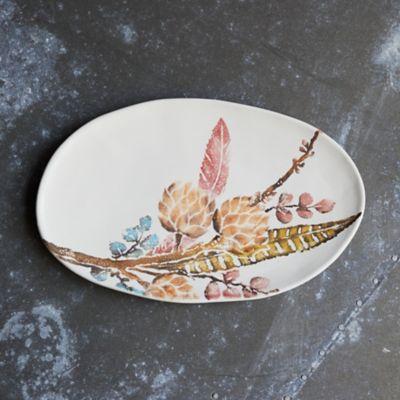 Botanical Sprigs Serving Platter, Oval