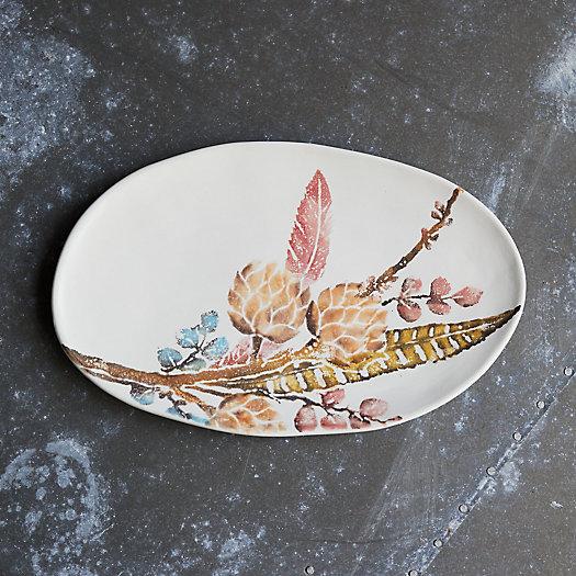 View larger image of Botanical Sprigs Serving Platter, Oval