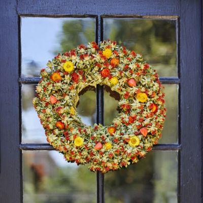 Preserved Safflower Wreath