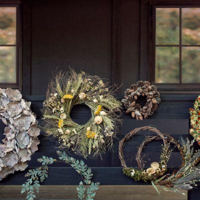 Preserved Yarrow + Poppy Wreath