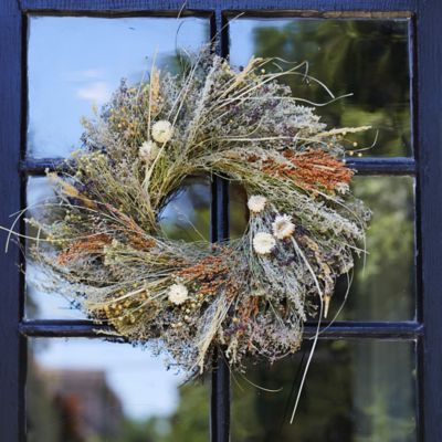 Preserved Purple Oregano + Grasses Wreath