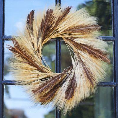 Preserved Wheat + Fern Frond Wreath