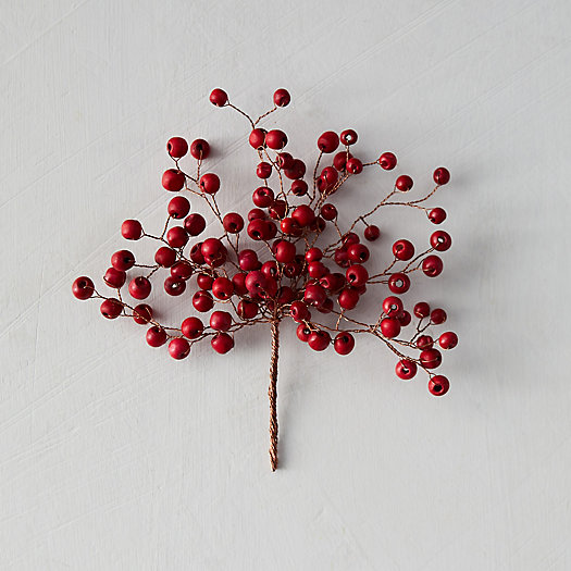 """View larger image of Red Beaded Bunch Pick, 5"""""""