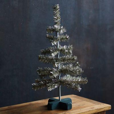 Tabletop Tinsel Christmas Tree
