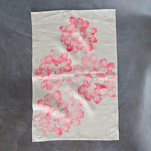 View larger image of Floral Stamped Dish Towel