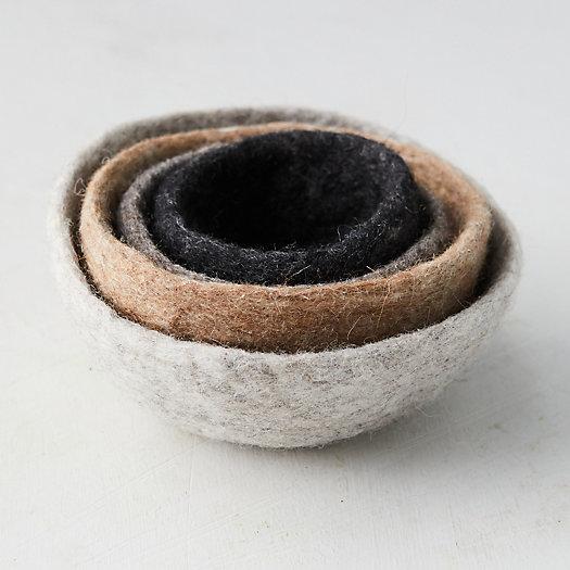 View larger image of Felt Nesting Bowls, Set of 4