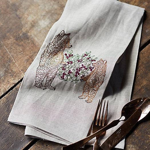 View larger image of Briar Bears Linen Dish Towel