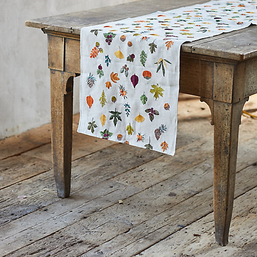 View larger image of Harvest Embroidered Linen Runner