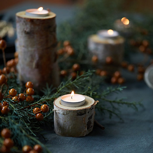 View larger image of Birch Tea Light Holders, Small Set of 12