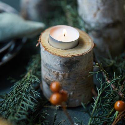 Birch Tea Light Holders, Medium Set of 12